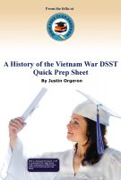 Cover for 'A History of the Vietnam War DSST Quick Prep Sheet'