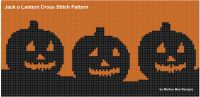 Cover for 'Jack O Lantern Cross Stitch Pattern'