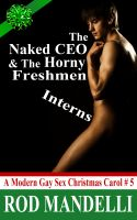 Cover for 'A Modern Gay Sex Christmas Carol #5: The Naked CEO & The Horny Freshmen Interns (M/m/m Gay Threesome Erotica) (College Twinks First Time Gay Sex)'