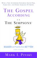 Cover for 'The Gospel according to The Simpsons, Bigger and Possibly Even Better!'