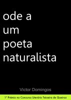 Cover for 'Ode a Um Poeta Naturalista'