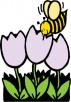 Bee and Flowers Cross Stitch Pattern by StabNJabDesigns