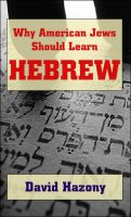 Cover for 'Why American Jews Should Learn Hebrew'