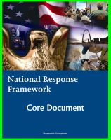 Cover for 'National Response Framework (NRF): Homeland Security Program Core Document for Emergency Management Domestic Incident Response Planning to Terrorism, Terrorist Attacks, Natural Disasters'