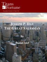 Cover for 'Joseph P. Day: The Great Salesman'