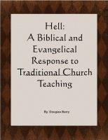Cover for 'Hell: A Biblical and Evangelical Response to Traditional Church Teaching'