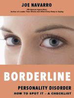 Cover for 'Borderline Personality Disorder How to Spot it - A Checklist'