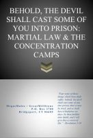 Cover for 'BEHOLD, THE DEVIL SHALL CAST SOME OF YOU INTO PRISON:  MARTIAL LAW & THE CONCENTRATION CAMPS'