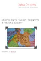 Cover for 'Briefing: Iran's Nuclear Programme & Regional Stability'