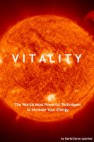 Cover for 'Vitality: The Worlds Most Powerful Techniques to Increase Your Energy'