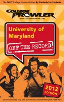 Cover for 'University of Maryland 2012'
