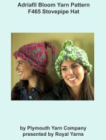 Cover for 'Adriafil Bloom Yarn Knitting Pattern F465 Stovepipe Hat'