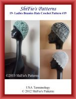 Cover for '19- Ladies Beanies Hats Crochet Patterns #19'