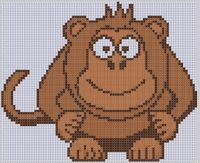 Cover for 'Monkey Cross Stitch Pattern'