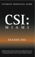 Cover for 'CSI Miami Season One'