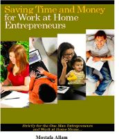 Cover for 'SAVING TIME AND MONEY FOR WORK AT HOME ENTREPRENEURS'
