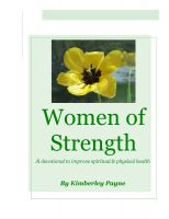 Cover for 'Women of Strength - a devotional to improve spiritual & physical health'