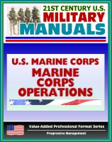 Cover for '21st Century U.S. Military Manuals: U.S. Marine Corps (USMC) Marine Corps Operations MCDP 1-0 (Value-Added Professional Format Series)'