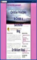Cover for 'Christian Principles to Create a Successful Blog'
