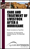 Cover for 'Care and Treatment of Livestock After a Hurricane'