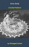 Cover for 'Eros Doily Vintage Crochet Pattern eBook'