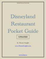 Cover for 'Disneyland Restaurant Pocket Guide UPDATED!'