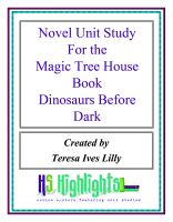 Cover for 'Novel Unit Study for the Magic Tree House Book Dinosaurs Before Dark'