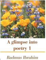 Cover for 'A glimpse into poetry 1'