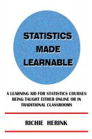 Cover for 'Statistics Made Learnable'