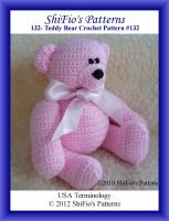 Cover for '132- Teddy Bear Crochet Patterns #132'