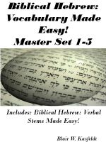 Cover for 'Biblical Hebrew: Vocabulary Made Easy! Master Flash Card Set 1-5'