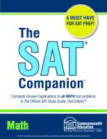 Cover for 'The SAT Companion: Math'