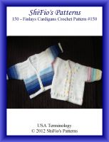 Cover for '150- Finlay's Baby  Cardigans Crochet Patterns #150'