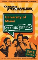 Cover for 'University of Miami 2012'