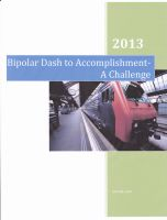 Cover for 'Bipolar Manic Dash to Accomplishment-a Challenge'