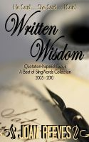 Cover for 'Written Wisdom: Quotation-Inspired Essays (A Best of SlingWords Collection)'
