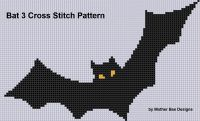 Cover for 'Bat 3 Cross Stitch Pattern'