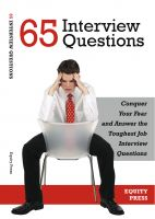 Cover for '65 Interview Questions: Conquer Your Fear and Answer the Toughest Job Interview Questions'