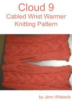 Cover for 'Cloud 9 Wrist Warmer Knitting Pattern'