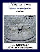 Cover for '186 - Sailor Dress Knitting Pattern #186'