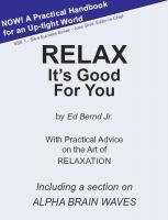Cover for 'Relax It's Good for You'