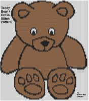 Cover for 'Teddy Bear 4 Cross Stitch Pattern'