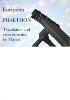 Cover for 'Euripides, Phaethon. Translation and reconstruction by Vlanes.'