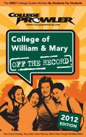 Cover for 'College of William & Mary 2012'