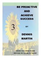 Cover for 'Be Proactive and Achieve Success'