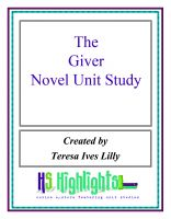 Cover for 'The Giver Novel Unit Study'