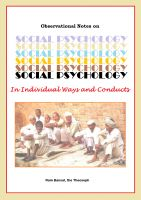 Cover for 'Social Psychology'