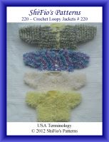 Cover for '220 Loopy Jackets Baby Crochet Pattern #220'