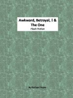 Cover for ''Awkward, Betrayal, I and The One''