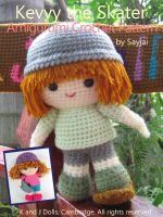 Cover for 'Kevvy the Skater Amigurumi Crochet Pattern'